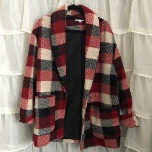 Zara Red Plaid Coat